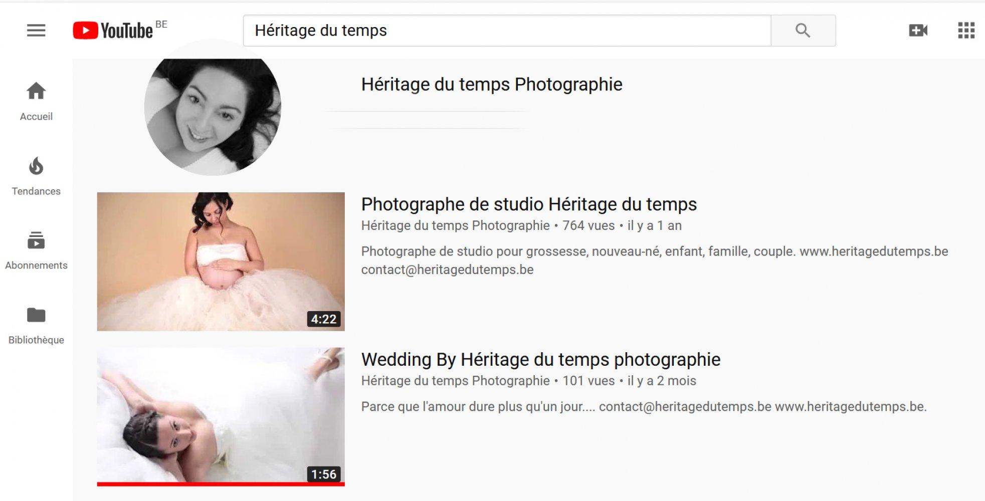 Héritage du temps  sur Youtube